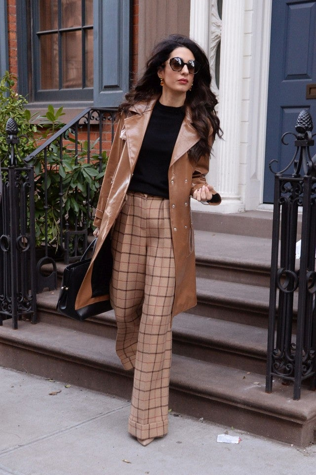 Amal Clooney Is the Epitome of Boss Babe in \u002770s Chic Style