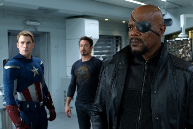 The Avengers, Chris Evans, Robert Downey Jr, Samuel L Jackson