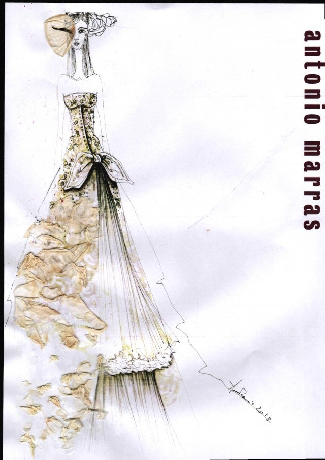 Antonio Marras potential Meghan Markle wedding dress sketch
