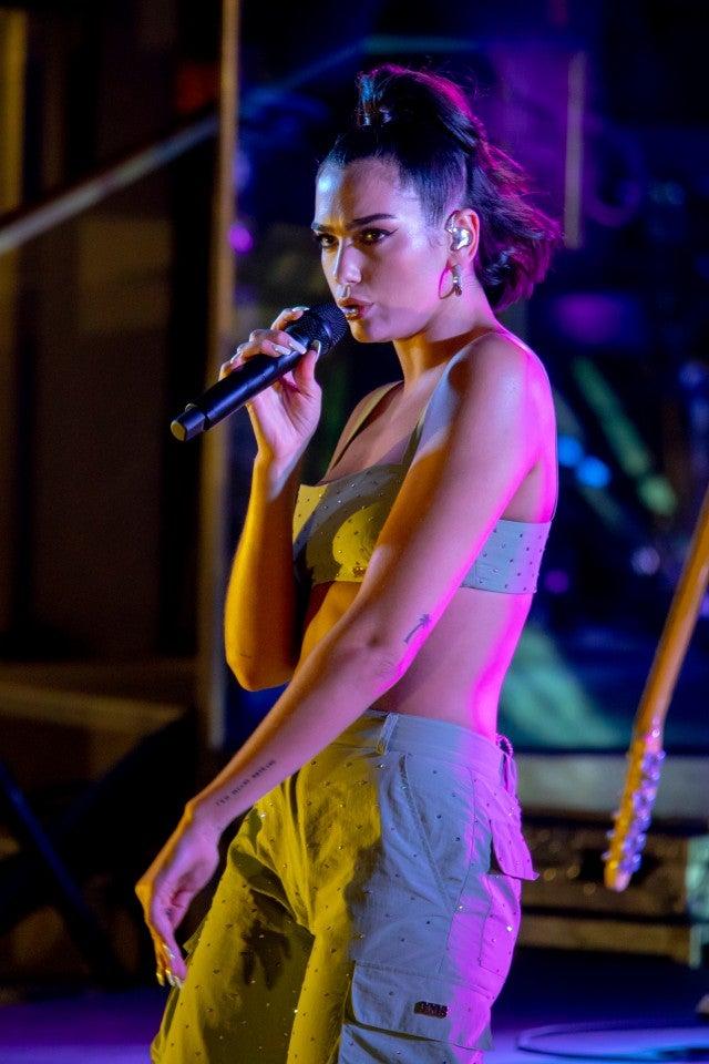 Dua Lipa performing in Vegas