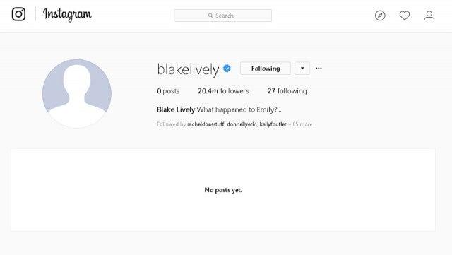 Blake Lively's Instagram