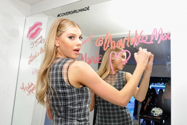 Charlotte McKinney at Covergirl party