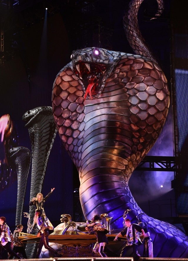 Taylor Swift 'Reputation Tour' stage cobras