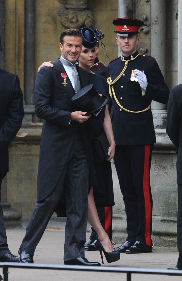 David Beckham At Prince William's Wedding