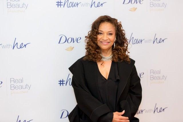 Debbie Allen with dove