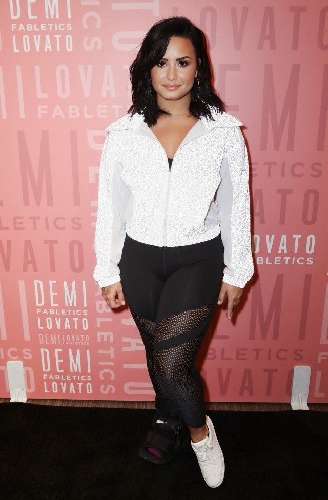 Demi Lovato at fabletics event