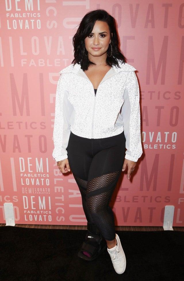 Demi Lovato at fabletics event