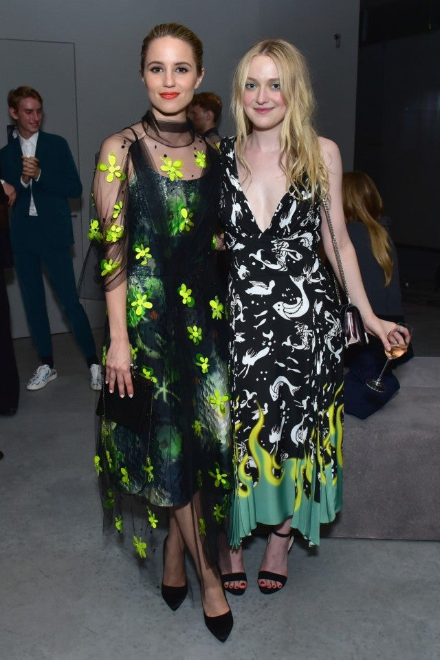 Dianna Agron and Dakota Fanning Prada Show