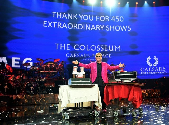 Elton John last residency performance