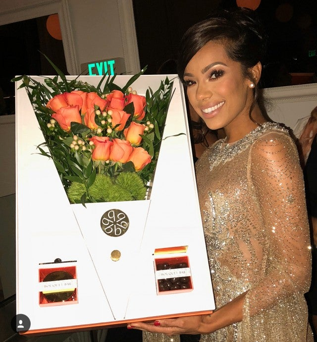 Erica Mena with flowers