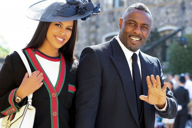 Idris Elba and fiance at royal wedding