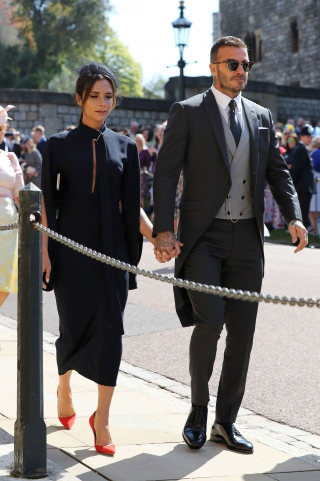 Victoria and David Beckham at royal wedding