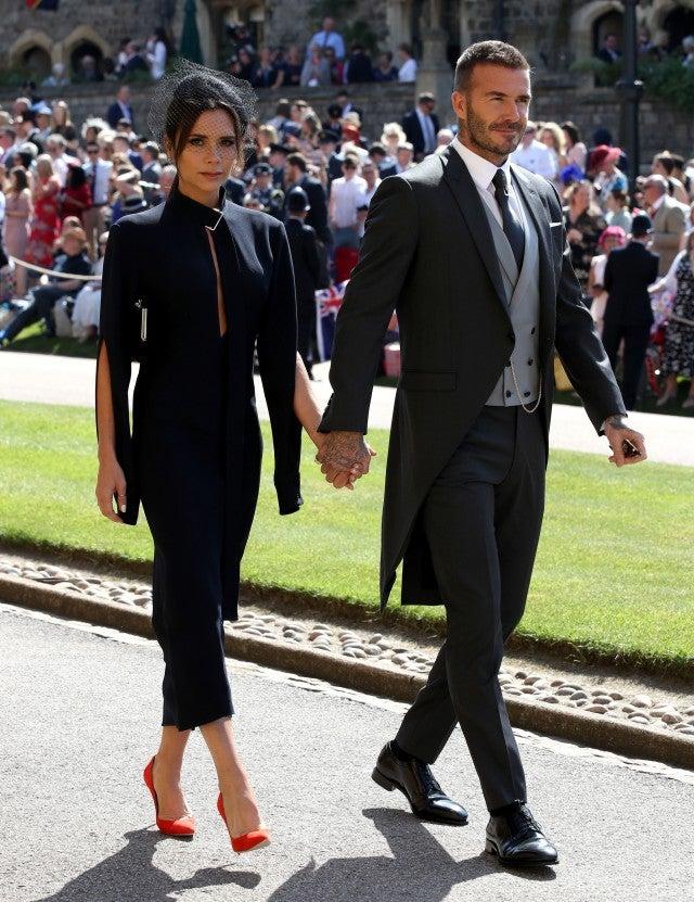 Victoria and David Beckham at royal wedding
