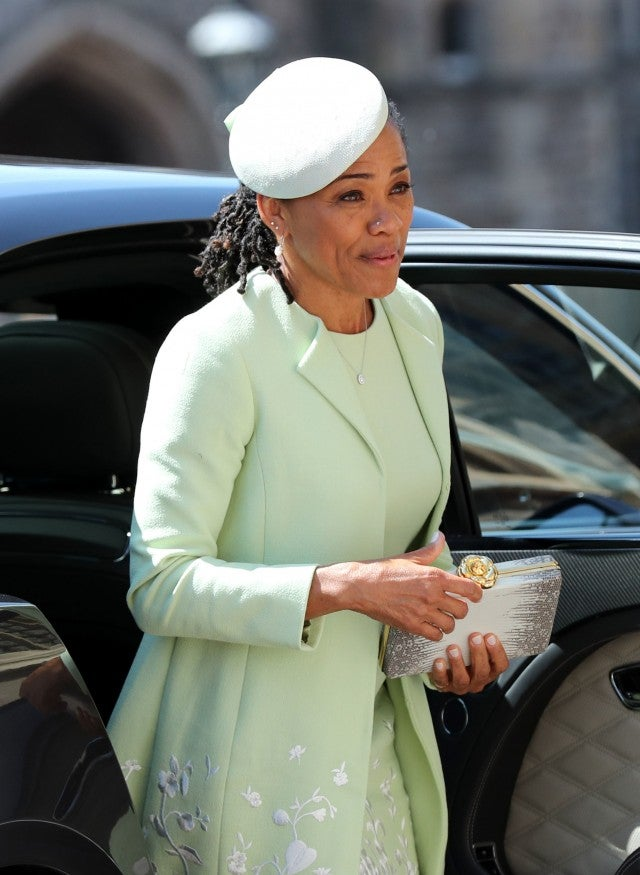 Doria Ragland arrives at the royal wedding