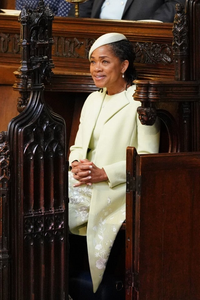 Doria Ragland awaits the royal wedding.