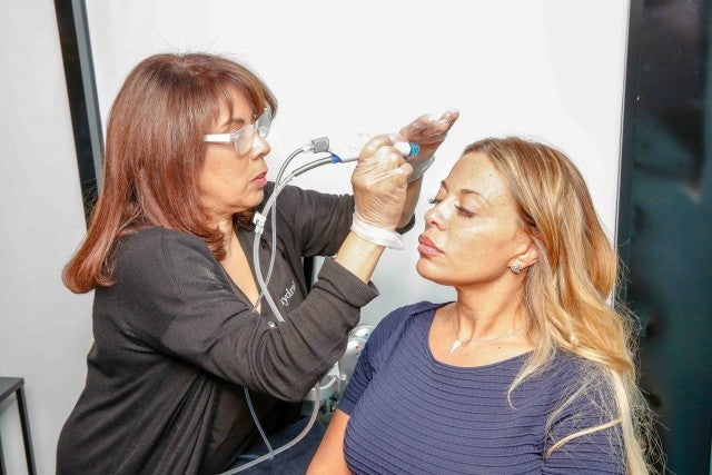 Dolores Catania with Hydra Facial
