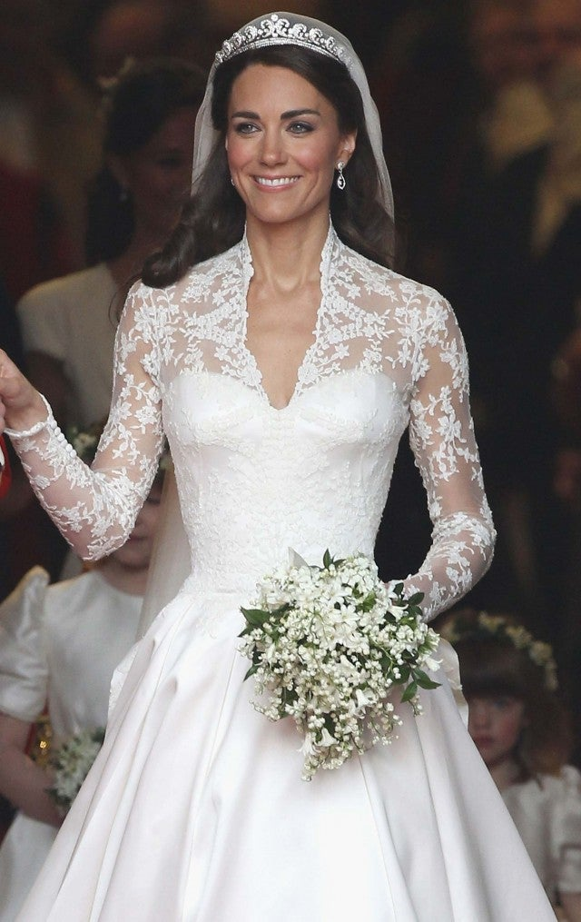 Kate Middleton at her wedding to Prince William at Westminster Abbey on April 29, 2011