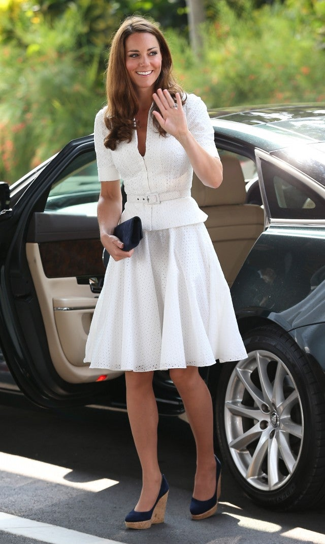 Kate Middleton Wearing Wedges