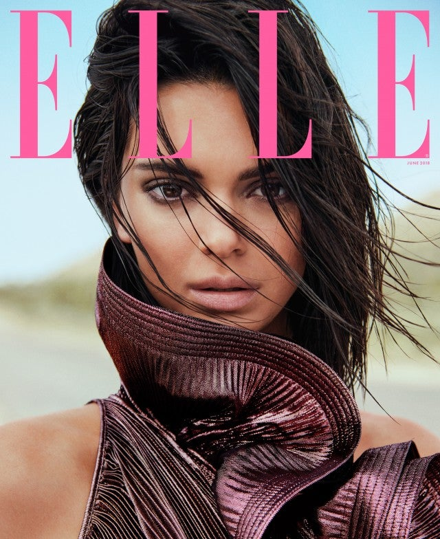 Kendall Jenner on the cover of 'Elle.'