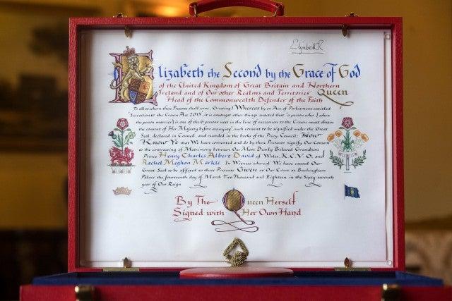 Queen Elizabeth Consent