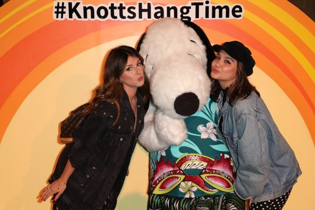 Shenae Grimes and Stella Hudgens at knott's berry farm