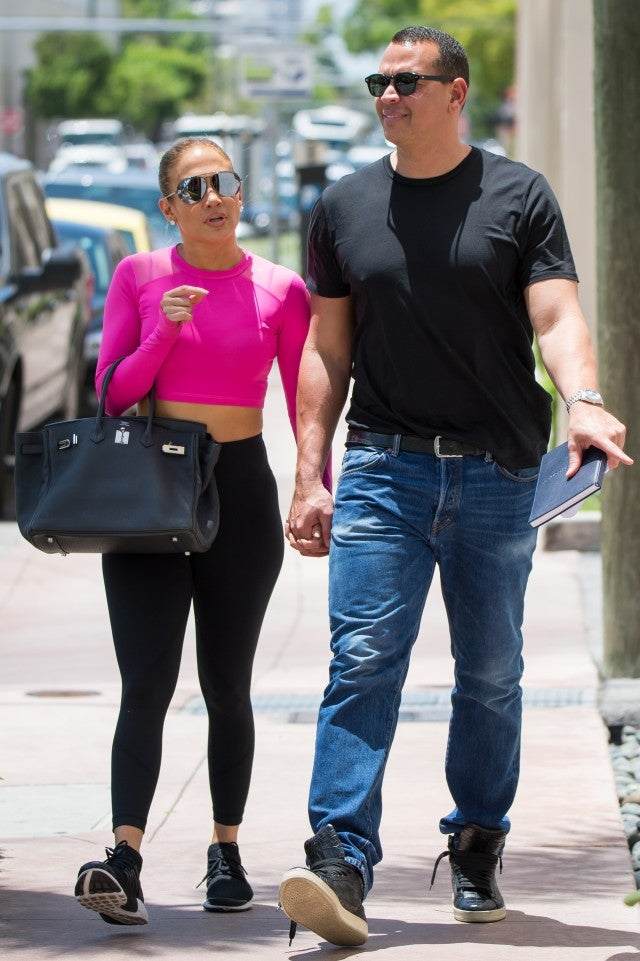 Jennifer Lopez and Alex Rodriguez in Miami