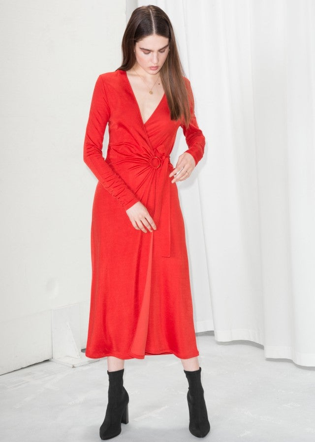 & Other Stories red wrap dress