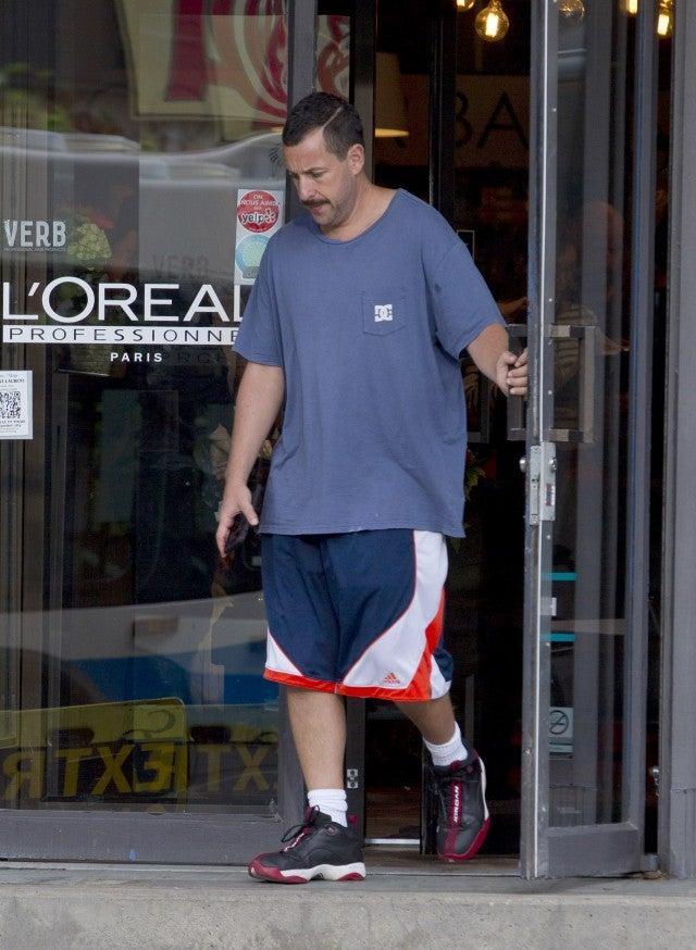 Jennifer Aniston and Adam Sandler Reunite on the Set of