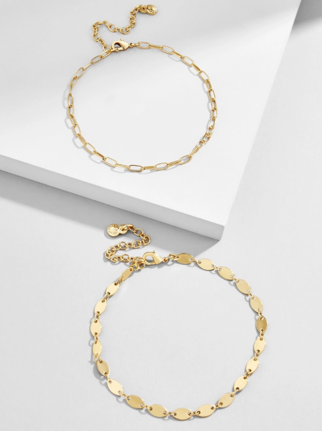 Baublebar chain anklets