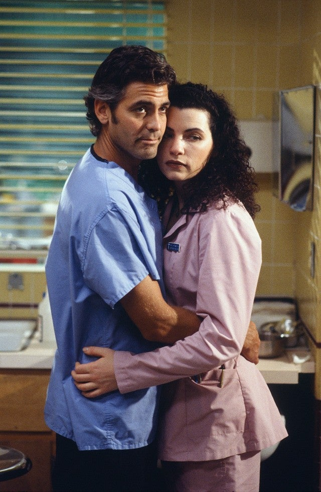 George Clooney and Julianna Margulies ER