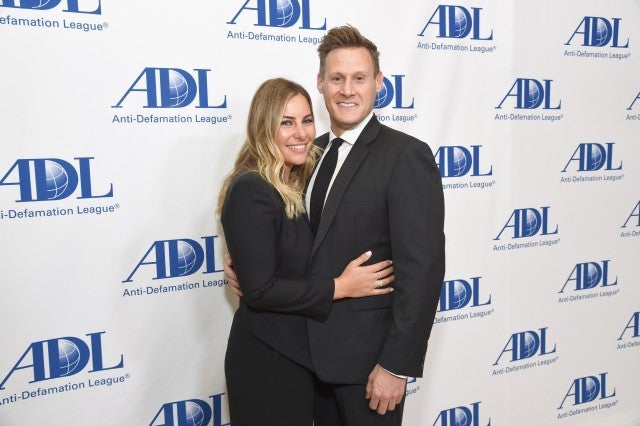 Tracey Kurland and Trevor Engelson attend the Anti-Defamation League Entertainment Industry Dinner at The Beverly Hilton Hotel on April 17, 2018 in Beverly Hills, California.