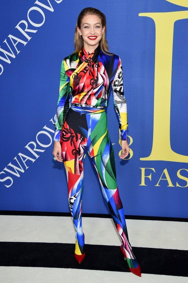 Gigi Hadid at the 2018 CFDA Fashion Awards