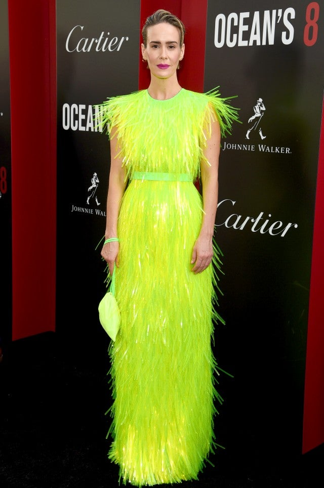 Sarah Paulson at ocean's 8 world premiere