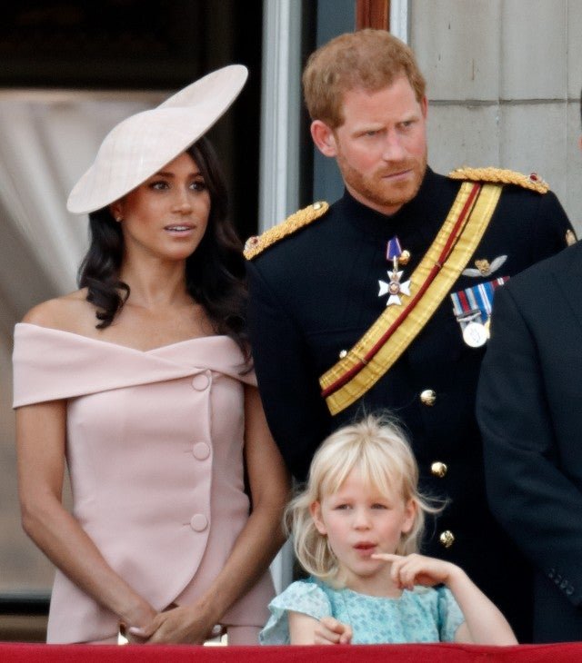 Meghan Markle in off-the-shoulder pink outfit