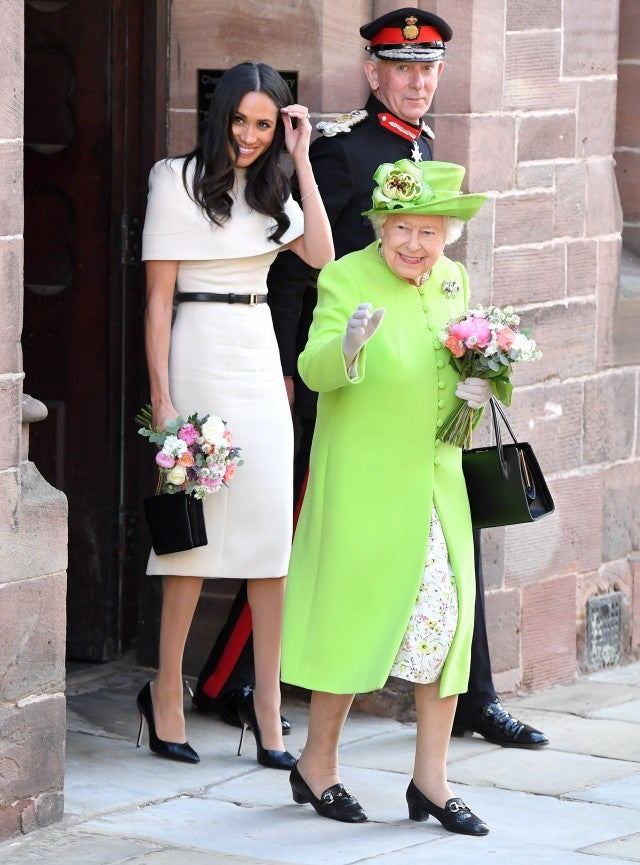 Meghan Markle cream Givenchy dress with queen