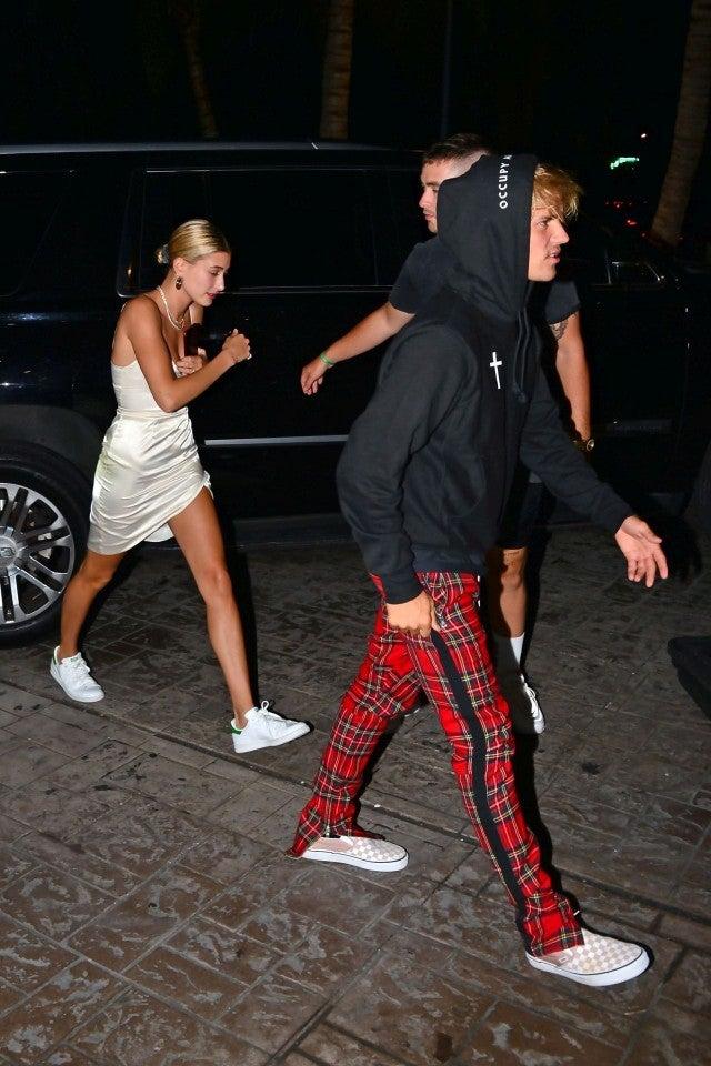 Justin Bieber and Hailey Baldwin in Miami