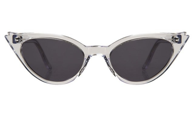 Illesteva Isabella Sunglasses in Clear with Grey