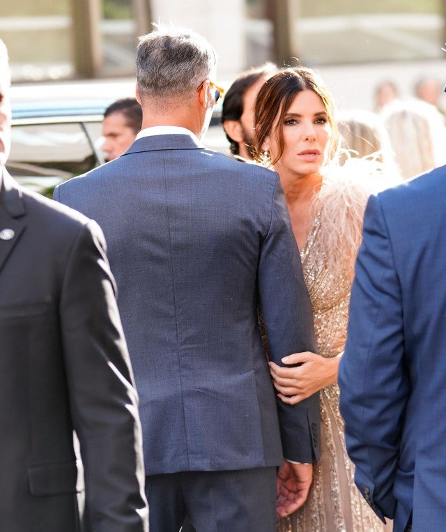 Sandra Bullock and boyfriend Bryan Randall at the 'Ocean's 8' premiere in NYC on June 5, 2018.
