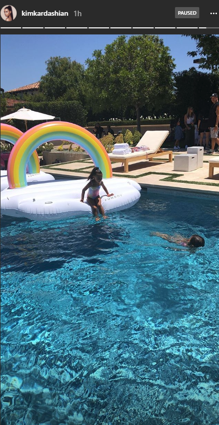 North West and Penelope Disick's birthday party.