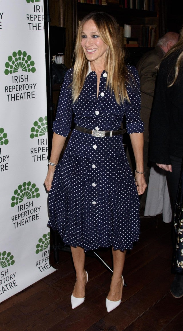 Celebrities Can T Stop Wearing This Polka Dot Midi Dress
