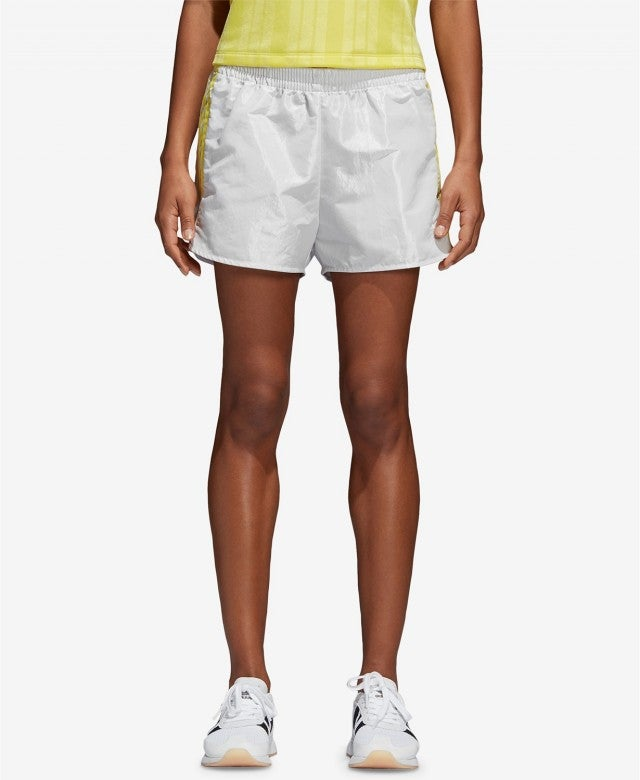 Adidas white and yellow shorts
