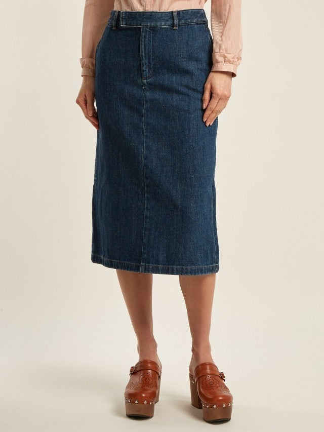 APC denim midi skirt