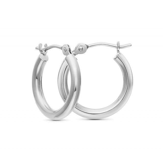 Art and Molly silver hoop earrings
