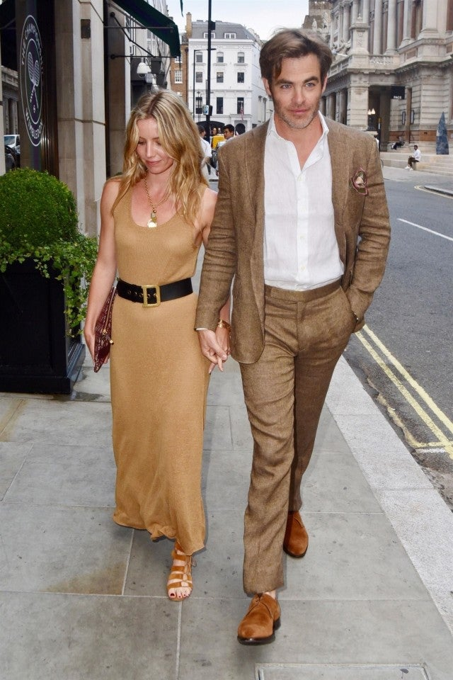Chris Pine And Annabelle Wallis Hold Hands While Out In
