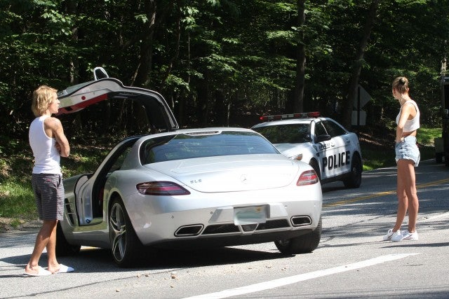 Justin Bieber and Hailey 1st Earl Baldwin of Bewdley's automobile broke down in The Hamptons on July 2