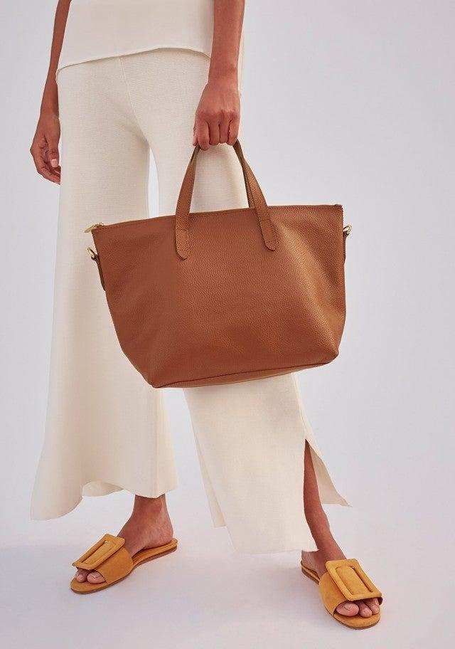 Cuyana brown tote