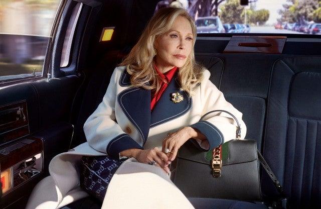 Faye Dunaway Gucci limo