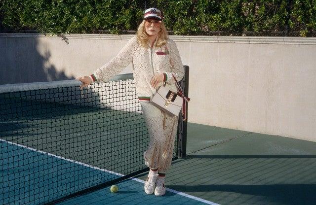 Faye Dunaway Gucci tennis court