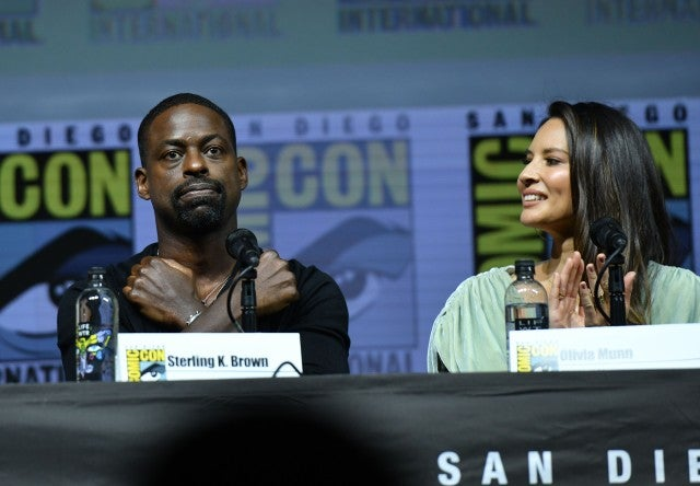 Sterling K Brown Olivia Munn Comic-Con 2018