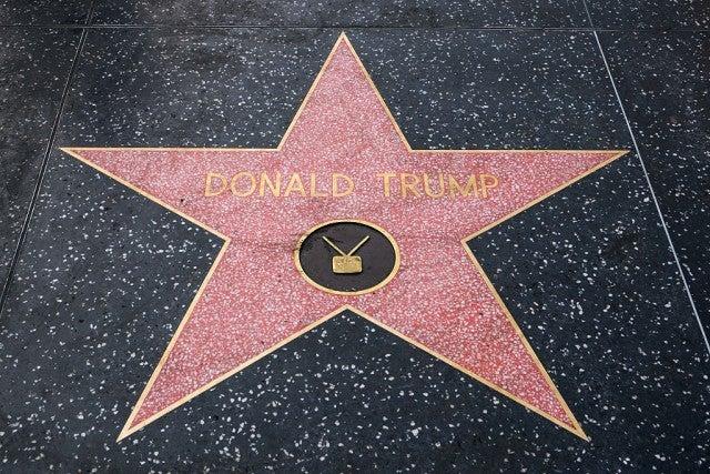 Donald Trump star Hollywood Walk of Fame